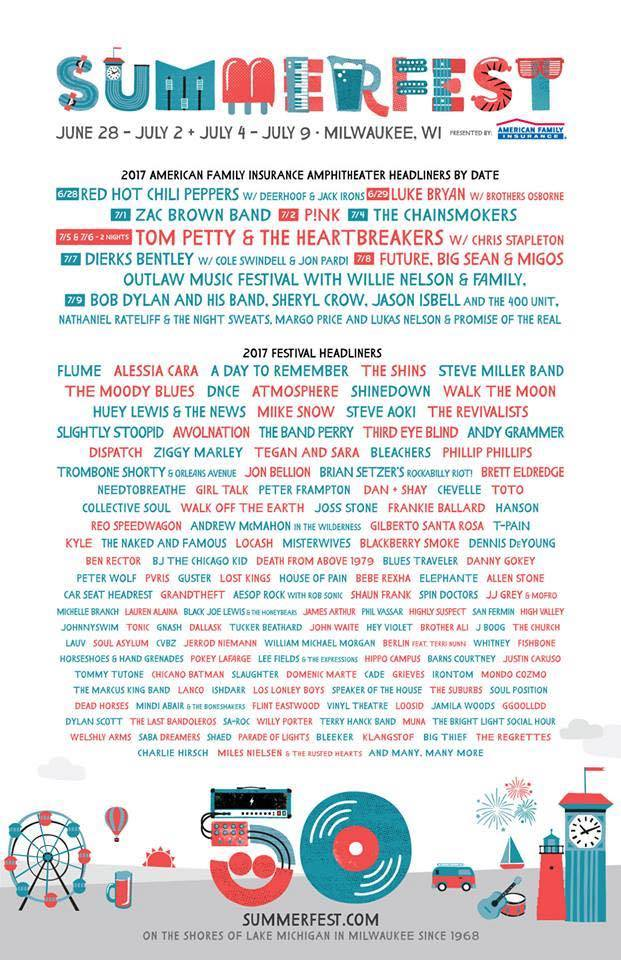 Summerfest Releases Massive 50th Edition Lineup | EDM Chicago
