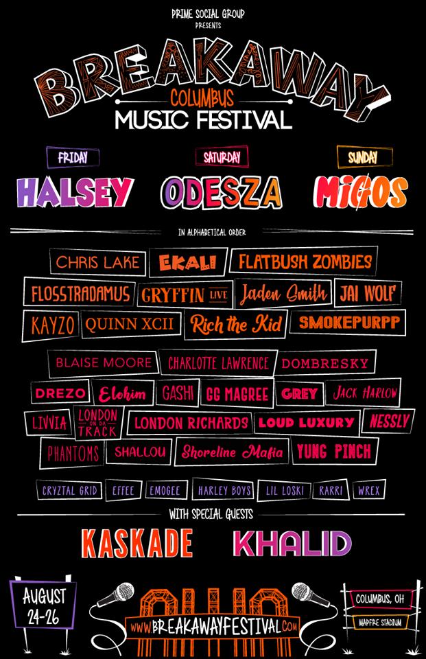 Breakaway Music Fest Lineup